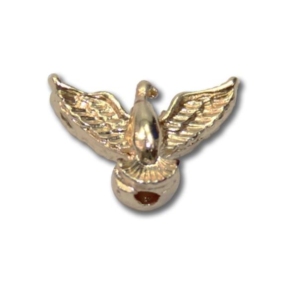 ET1530401P2 - Entremeio Divino Espírito Santo Passante Dourado c/ 2un. - 0,9x1,5cm