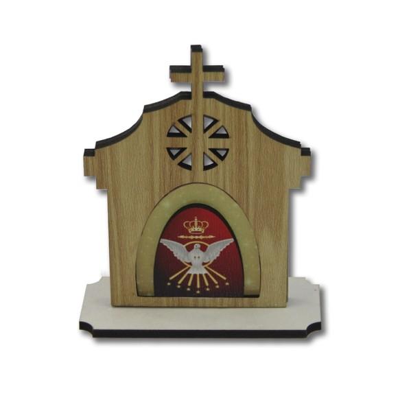 CP81171 - Capela  Divino Espirito Santo MDF - 14x7cm