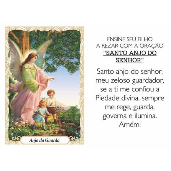 OP41800P100 - Oração Santo Anjo c/ 100un. - 6x4cm