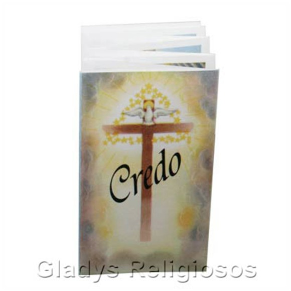 OS41803 - Oração Credo Sanfonado - 9x5cm