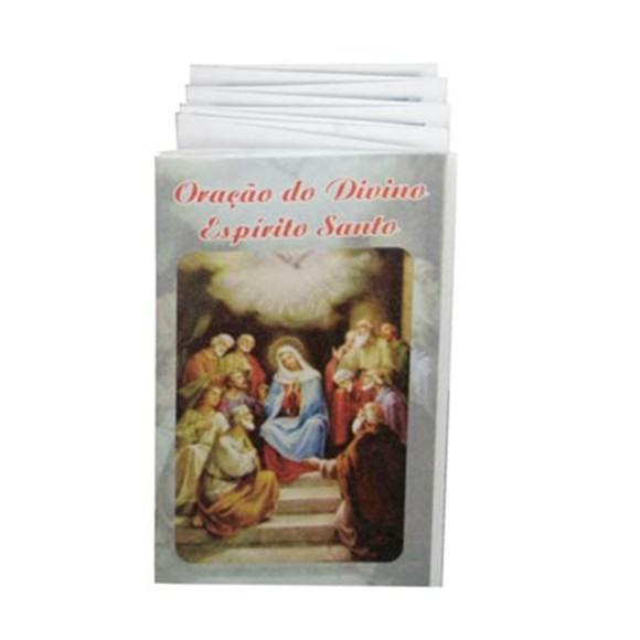 OS41802 - Oração Divino Espírito Santo Sanfonada - 9x5cm