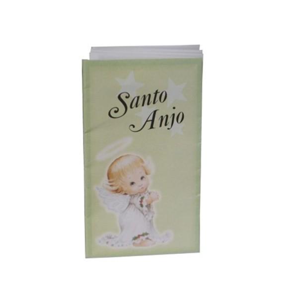OS41801P12 - Oração Santo Anjo Sanfonada c/ 12un. - 9x5cm
