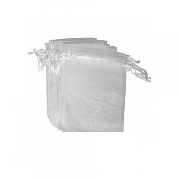 EM9610P100 - Saco de Organza Branco c/ 100un. 7x9cm