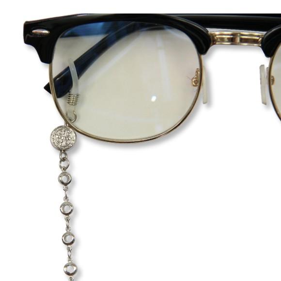 AC1710510 - Corrente Para Óculos São Bento Níquel - 60x0,9cm