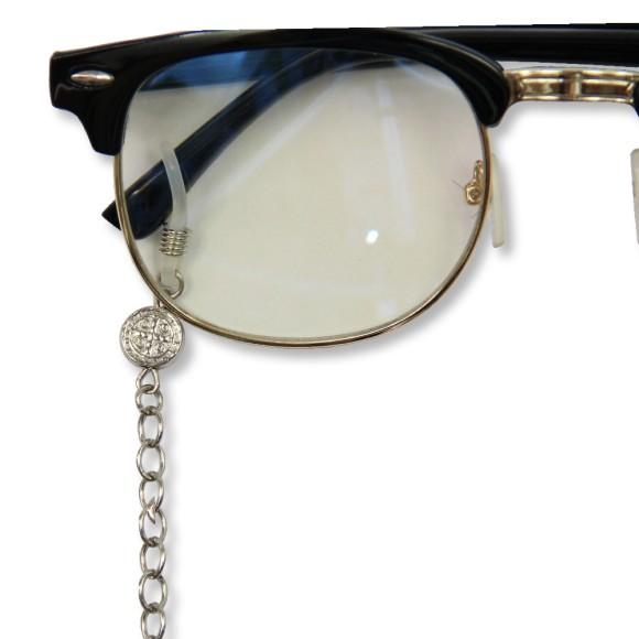 AC1710515 - Corrente Para Óculos São Bento Níquel - 60x0,9cm