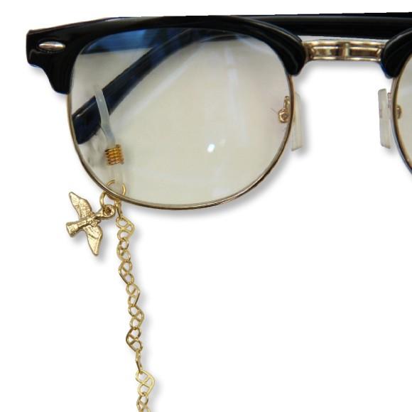AC1710630 - Corrente Para Óculos Divino Espírito Santo Dourada - 58x0,9cm