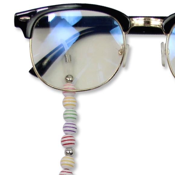 AC1710820 - Cordão Para Óculos Infantil Contas De Bolinhas Coloridas - 43x0,8cm