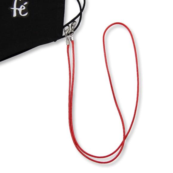 MM1338214 - Cordão Para Máscara Vermelho - 63x0,8cm