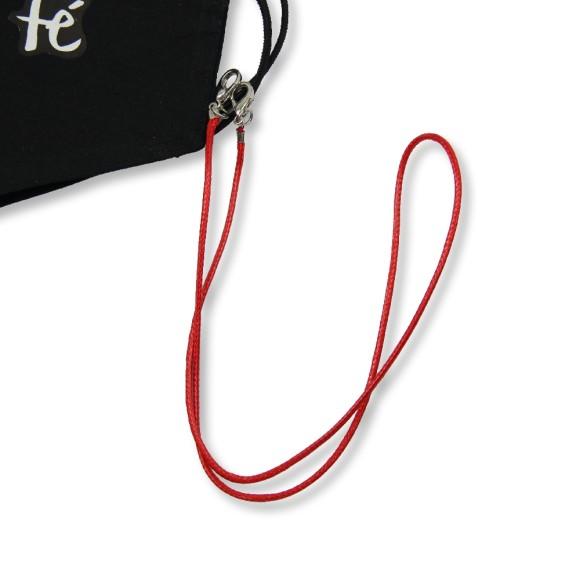 MM1338354 - Cordão Para Máscara Infantil Vermelho - 50x0,8cm
