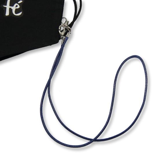 MM1338360 - Cordão Para Máscara Infantil Azul Escuro - 50x0,8cm