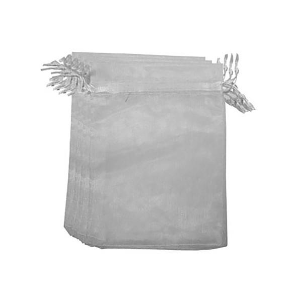 EM9630P100 - Saco de Organza Branca c/ 100un. 10x15cm