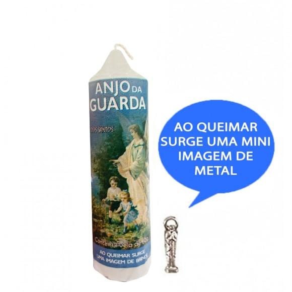VE155144 - Vela Anjo da Guarda c/ Santo de Bolso - 14x3cm