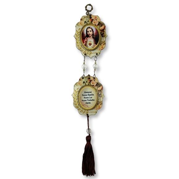 MO412870 - Móbile Sagrado Coração De Jesus - 36x6,4cm
