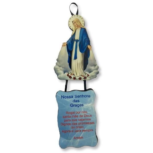 MO1410011 - Móbile N. Sra. Das Graças c/ Oração - 22x7,5cm