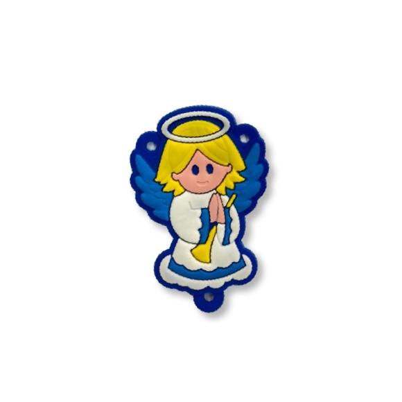 ET1710002 - Entremeio Anjo Da Guarda Azul Emborrachado - 5,3x3,5cm
