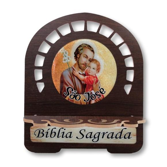 PB811549 - Porta Bíblia São José MDF Resinado - 26x21,5cm
