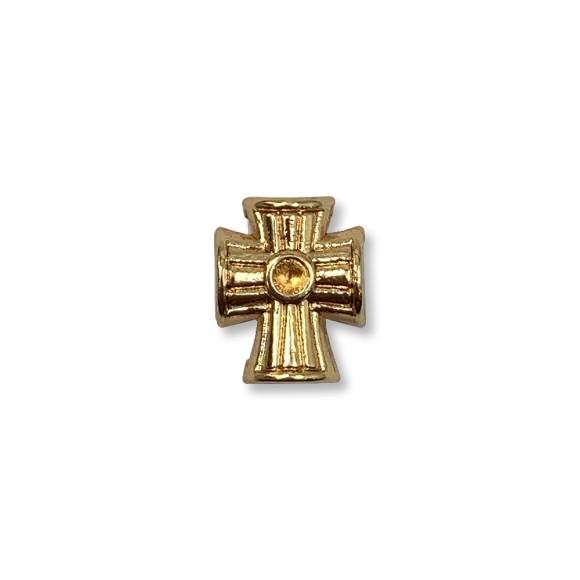 ET1530551P3 - Entremeio Cruz Passante Dourado c/3un. - 1,5x1,3cm