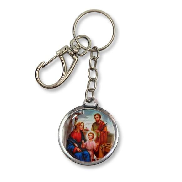 AS1391181 - Chaveiro Sagrada Família Duplo Resinado - 12x3,5cm