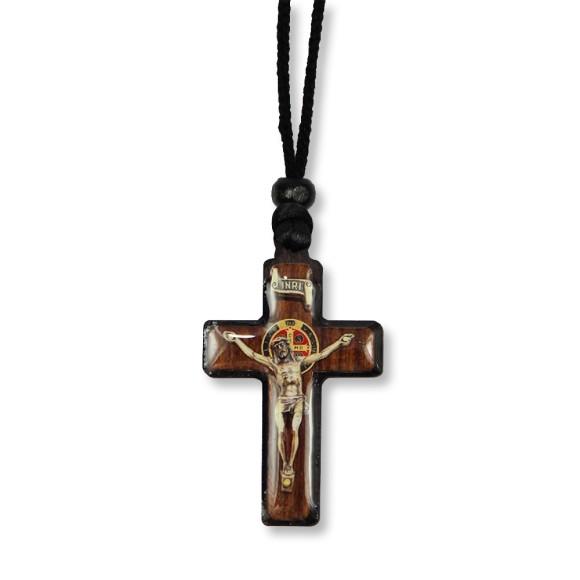 AS1370352 - Cordão São Bento c/ Crucifixo Madeira - 33x3cm