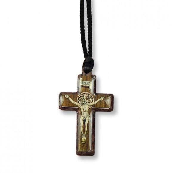 AS1370353 - Cordão São Bento c/ Crucifixo Madeira - 33x3cm