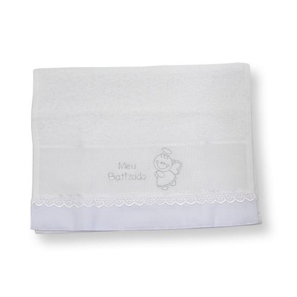 TO1410 - Toalha Batismo Branca 44x29cm