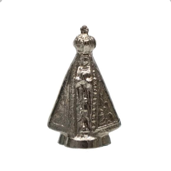 IM8901 - Imagem N. Sra. Aparecida Prateada Metal - 4x2,5cm