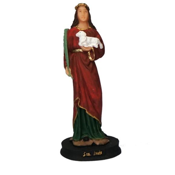 IM1730028 - Imagem Santa Inês Resina - 16x6cm