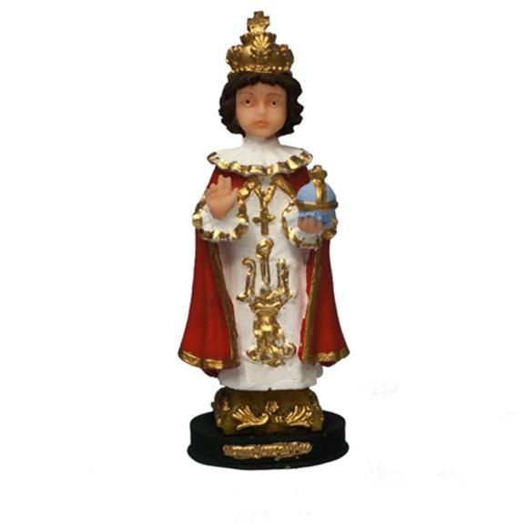 IM1730429 - Imagem Menino de Jesus Praga Resina - 16x6cm