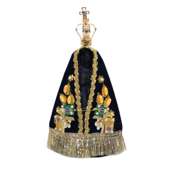 IM5801 - Fac Kit c/ Coroa, Manto e Imagens de N. Sra. Aparecida - 16x10cm