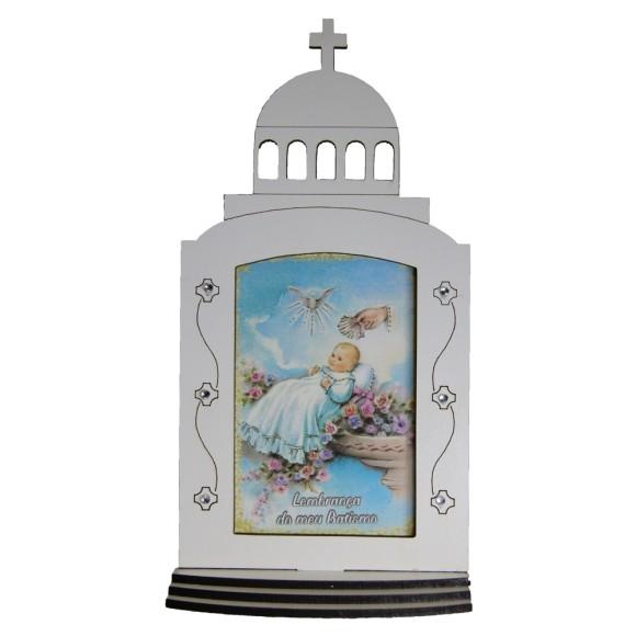 CP1410 - Capela Batismo de MDF - 17x9cm