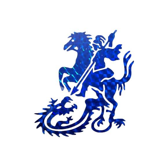 AD1904 - Adesivo São Jorge Brilhante Azul - 9x9cm