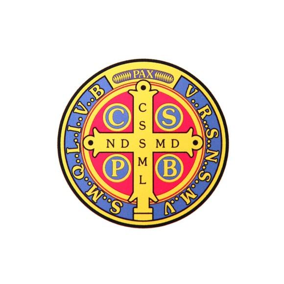 AD8213 - Adesivo Medalha de São Bento - 5x5cm