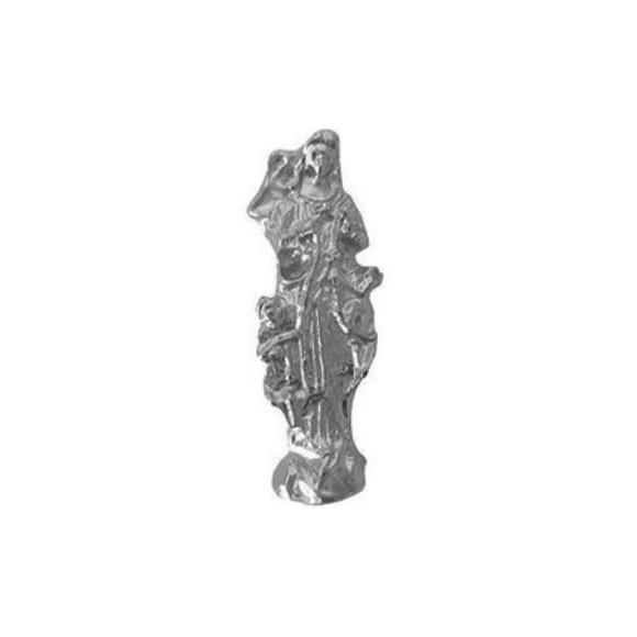 IM8805P3 - Imagem Miniatura N. Sra. Desatadora de Nós (Bolso) Metal Níquel c/ 3un. - 2,5X0,8cm