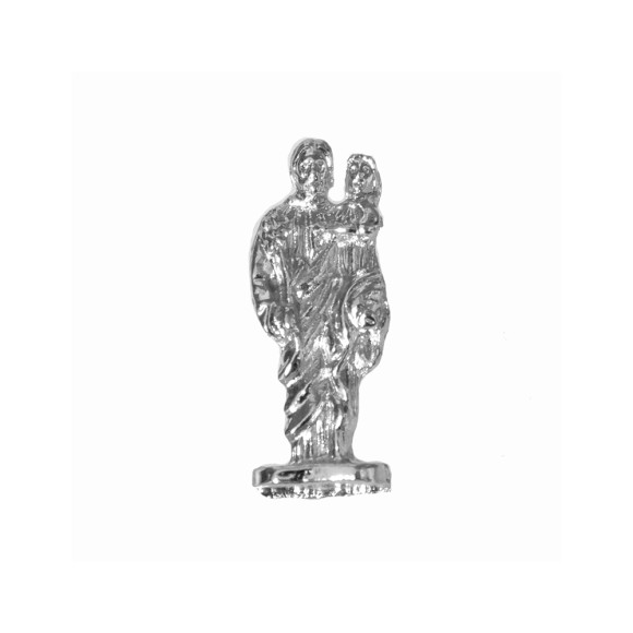 IM88409P3 - Imagem Miniatura São José (Bolso) Metal Níquel c/ 3un. - 2,5X0,8cm