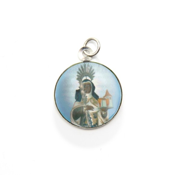 MD105042P3 - Medalha de Alumínio Redonda c/ 3un. Santa Efigênia - 2,5x2cm