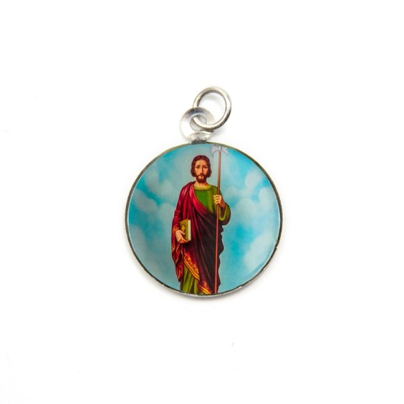 MD105220P3 - Medalha de Alumínio Redonda c/ 3un. São Judas  - 2,5x2cm