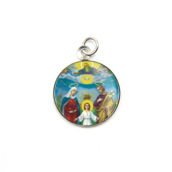 MD105404P3 - Medalha de Alumínio Redonda c/ 3un. Sagrada Família - 2,5x2cm