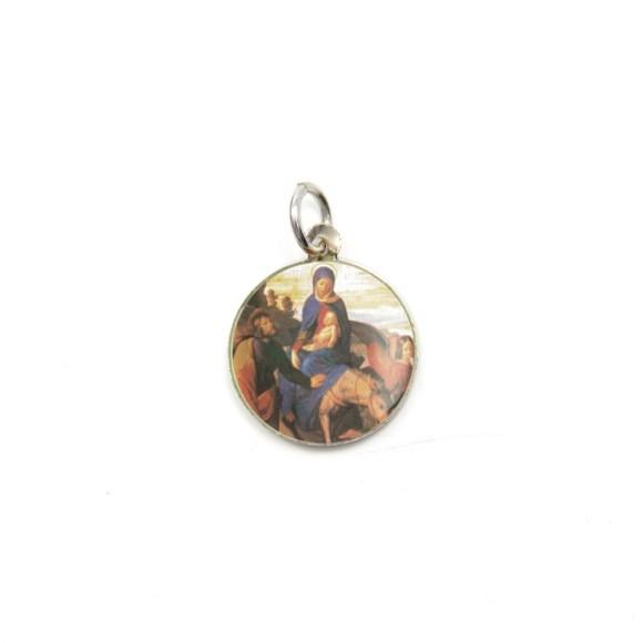 MD104029P5 - Medalha de Alumínio Redonda c/ 5un. N. Sra. Do Desterro - 1,5x1,5cm