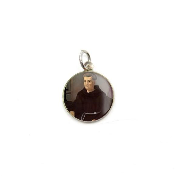 MD104201P5 - Medalha de Alumínio Redonda c/ 5un. Frei Galvão - 1,5x1,5cm