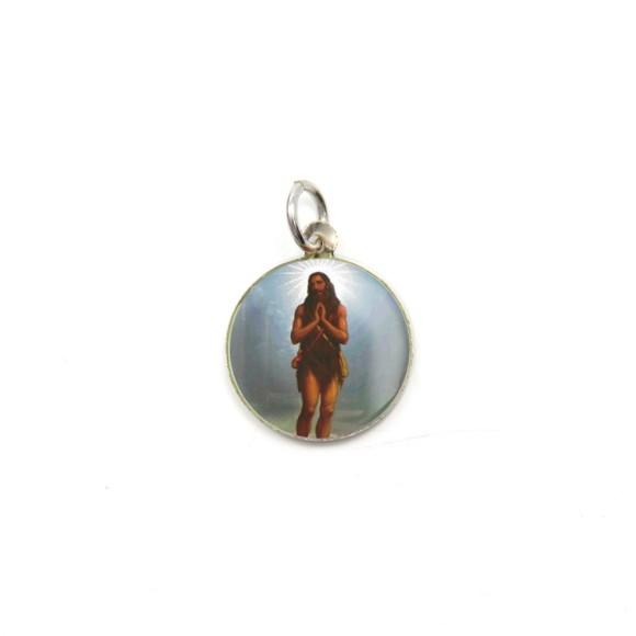 MD104215P5 - Medalha de Alumínio Redonda c/ 5un. Santo Onofre - 2,5x2cm