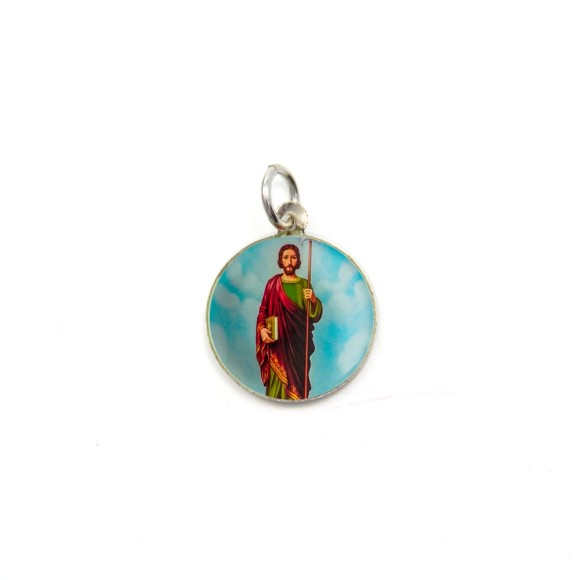 MD104231P5 - Medalha de Alumínio Redonda c/ 5un. São Judas  - 1,5x1,5cm
