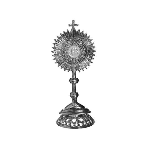 PD112010 - Ostensório Primeira Eucaristia Prateado - 7x2,5cm