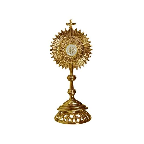 PD112011 - Ostensório Primeira Eucaristia Dourado - 7x2,5cm