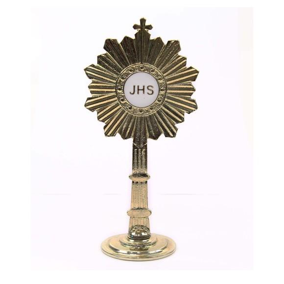 PD112025 - Ostensório Primeira Eucaristia Dourado - 14,5x7cm