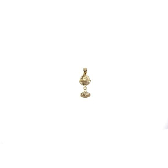 PG112070 - Pingente Cálice Primeira Eucaristia Dourada - 3x1cm
