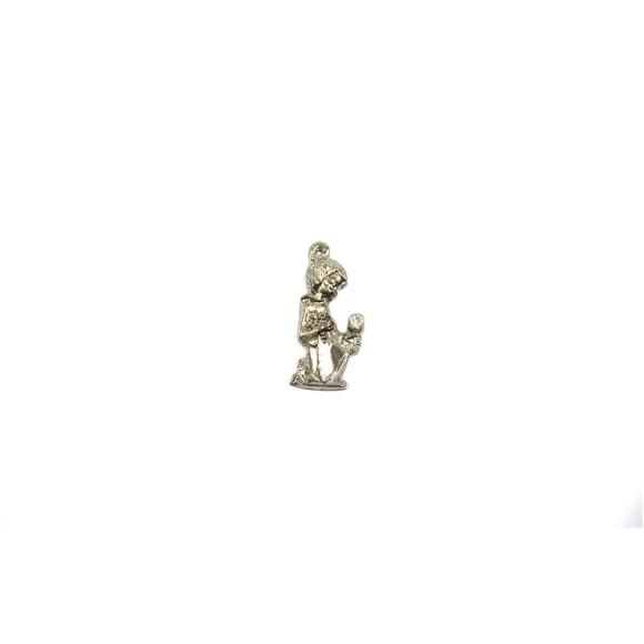 MD112081P4 - Pingente Primeira Eucaristia Menina Níquel c/ 4un. - 3,5x1,5cm
