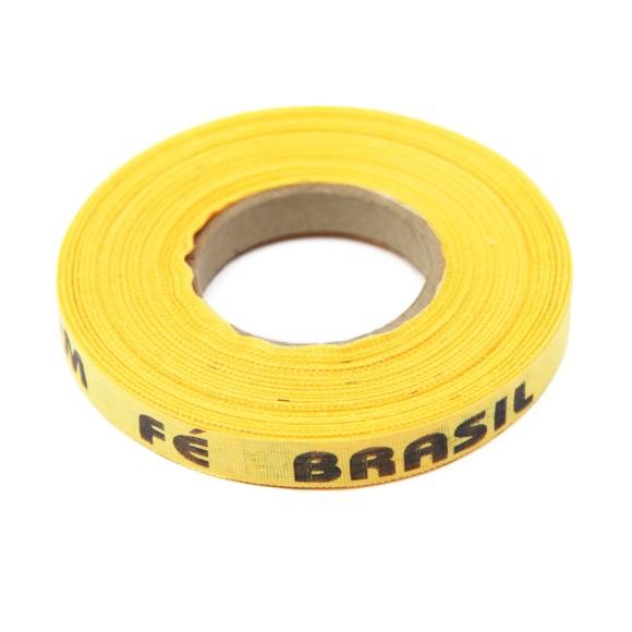 RF18001 - Rolo de Fita Brasil Amarelo Ouro