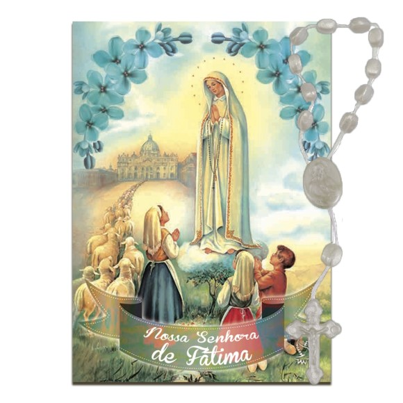 IA4006 - Imã N. Sra. de Fátima c/ Dezena de Acrílico - 7x5cm