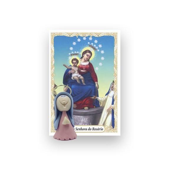 ST16006 - Nossa Senhora Do Rosário de Biscuit c/ Oração - 6x4cm