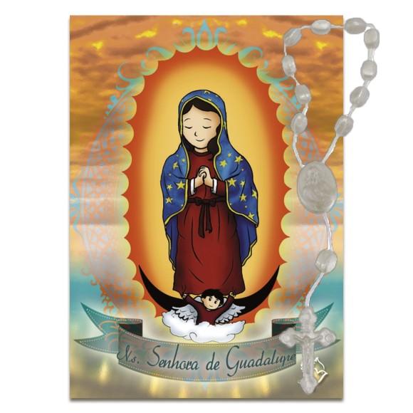 IA4007 - ÚLTIMAS PEÇAS Imã N. Sra. de Guadalupe c/ Dezena de Acrílico (Estilizado) - 7x5cm